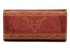 New with Tag - $178.00 Frye Campus Stitch Burnt Red Leather Wallet