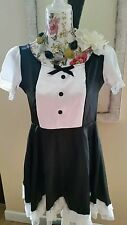 Sexy Maids Silky Satin Tunic/Outfit Size M