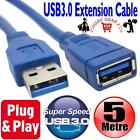 5M FAST SPEED USB3.0 EXTEND CABLE USB 3.0 EXTENSION LEAD 5 METRE LONG CONNECTOR