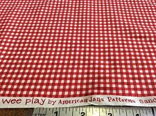 WEE PLAY #21082-11 RED BY AMERICAN JANE PATTERNS FOR MODA- BY THE YARD