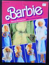 NEW BARBIE DOLL 1984 VINTAGE FASHIONS SPECTACULER BLUE FUR COAT DRESS 9144