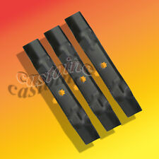 3 in 1 Blades  fit  John Deere GY20852 Mower Blades 48 Cut 7 Point Star