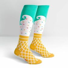 Sock It To Me Para Mujer Knee High Socks-Ice Cream Dream
