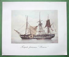 SAILSHIPS French Frigate Pomone - 1963 Fine Quality Color Print