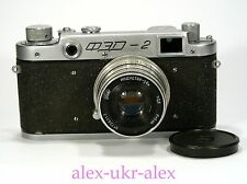 Early Russian FED-2 with Industar-26m lens 35-mm camera M39. №066423.Repaired