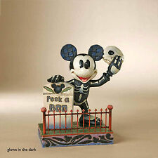 Jim Shore Disney Traditions Mickey Mouse Skeleton 4011043 Glow in Dark RETIRED
