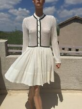 Maje rayane lace puffball dress with Braid Trim White T3= Large