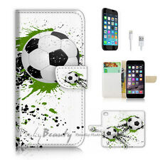 iPhone 6 6S Plus (5.5') Flip Wallet Case Cover P2549 Soccer Football
