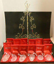 Waterford Crystal Complete 12 Days of Christmas w/ Display Tree Incl Rare 1982