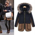 hot Women's Slim Fit Winter Warm Hooded Coat Outerwear Boyfriend Zip Long Jacket
