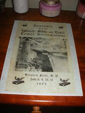 RARE 1905 Souvenir Convention Watchtower Bible Students Jehovah cross and crown