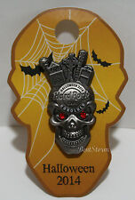NEW Hard Rock Cafe Honolulu Hawaii 3D HALLOWEEN 2014 PIN SKULL LE 100 JEWEL EYES