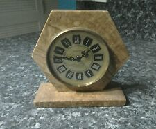 Vintage Malta Stone. Mercedes West Germany mantle type clock for repair