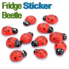New 10X Cute Beetle Refrigerator Sticker Fridge Magnet Decoration Ornament UK