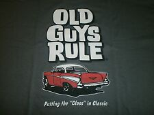 "OLD GUYS RULE 1957 CHEVY PUTTING THE ""CLASS IN CLASSIC S/S SIZE XL T-SHIRT"