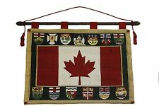 CANADA COUNTRY, PROVINCIALS, TERRITORIES 26X36 INCH WALL HANGING BANNER TAPESTRY