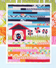 Dog Daze - cute applique & pieced wall quilt PATTERN - Stitches of Love