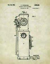 Automotive Vintage Gas Pump Patent Print Poster Visible Gasoline Parts  PAT277