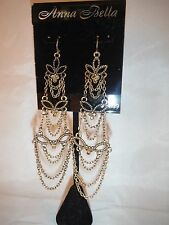 ANNA BELLA SHOULDER DUSTER EARRINGS COSTUME JEWELRY BOX J