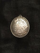 LARGE Irish Silver Congregation Of The Children Of Mary Medal / Pendant c.1920s