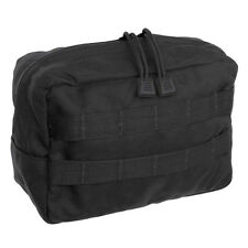 Tac Shield Horizontal Molle GP Utility Pouch Black USA Made
