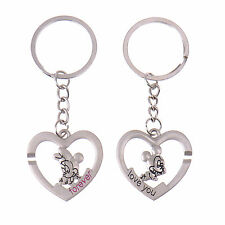1 Pair Heart Love Mickey Minnie Mouse Lover Keychain Gift Couple Keyring