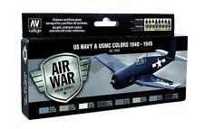 Vallejo Air War USMC & Navy 1940-45 Paint Set - 8 Colors - 40293