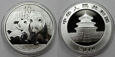 CHINA 2010 PANDA 10 YUAN ONZA MONEDA PLATA SILVER PROOF CÁPSULA ORIGINAL