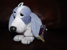 Applause Hush Puppies Vanilla Beanbag Purple Puppy Dog Plush Beanie Doll 6""