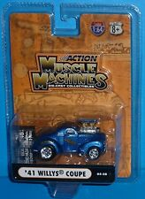 2005 MUSCLE MACHINES '41 Willys Coupe #05-38 Stone Woods & Cook Real Riders 1941