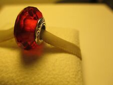 Authentic Sterling Silver 925 ALE Fascinating Red Pandora Murano Bead Charm