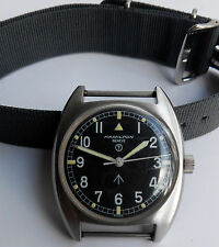 British Military Watch Hamilton Geneve Manual Winding W/Hack In 1975