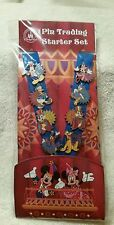 DISNEY PARADE CHARACTERS 8-PIN AND LANYARD SET *FACTORY SEALED* *GENUINE* MICKEY