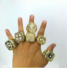 1974 1975 1978 1979 2005 2008 Pittsburgh Steelers championship ring 6 together~~