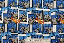 BATMAN Thwack Ewooshh! Patch Boys Kids Childrens Cotton Fabric   BTY   (N6) <