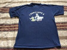 I Don't Give A Rat A** T-Shirt Size L (Picture Of A Rat & A Donkey) Custom 77