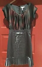 BCBG MAX AZRIA EVENING SHIMMERY PLEATED COCKTAIL DRESS SZ 6 (M)