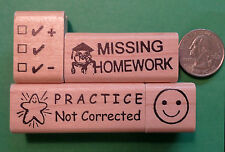Primary Teachers' Rubber Stamp Set of 4 for general classroom use