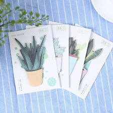 4 Pack(120 Sheets) Succulent plants Post it note Sticker Memo sticky notes