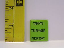 VINTAGE IDEAL TAMMY TELEPHONE DIRECTORY #9184 1960'S GOOD CONDITION #2
