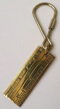 Vintage Solid Brass Ruler Key chain / Keyring Teacher Keychain PURSE FOB #A-30