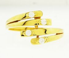 18Carat Yellow Gold White Sapphire Fancy Cluster Ring (Size Q 1/2) 11mm Widest