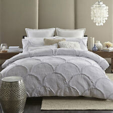 Queen Size Bed Duvet Doona Quilt Cover Set PIMLICO WHITE Ultima Logan and Mason