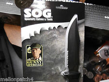 "A SOG M37N, A  9 "" SEAL PUP FIXED BLADE KNIFE WITH A MILTARY GRADE NYLON SHEATH"