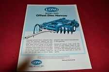 Long  Tractor 1080 Offset Disc Harrow Dealers Brochure 1364 LCOH
