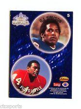 OJ Simpson - Floyd Little - Buffalo Bills/Denver Broncos 1994 T.W.C.C. # 5 POG