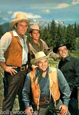 BONANZA BEN ADAM HOSS LITTLE JOE CARTWRIGHT WESTERN PHOTO POSTER PERNELL ROBERTS