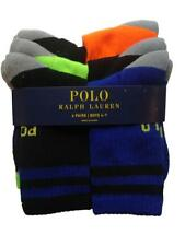 Authentic Ralph lauren polo boys sports crew socks pack 6 8 - 12 shoe size 13-3