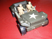 VINTAGE TIN & PLASTIC TOY WIND UP TRUCK, DURHAM JAPAN. ARMY / MILITARY POLICE