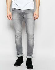 size 30/32 w30 L32 NUDIE jeans THIN FINN DARK PAVEMENT skinny LIGHT GREY tom LIN